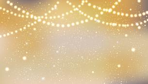輝きとぼかしのゴールド背景のイラスト素材 [FYI04907508]