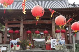 ランタンフェスティバル中の興福寺山門の写真素材 [FYI04907583]