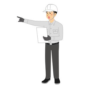 指示をする工事現場の男性のイラスト素材 [FYI04908214]