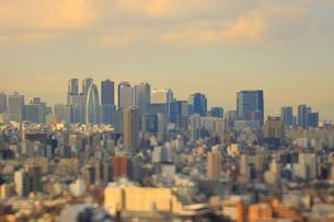 新宿副都心のジオラマ風景の写真素材 [FYI04908926]