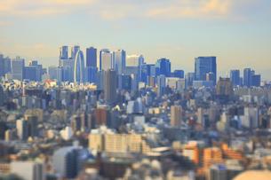 新宿副都心のジオラマ風景の写真素材 [FYI04908927]