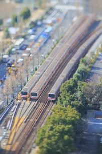 地下鉄丸ノ内線のジオラマの写真素材 [FYI04908945]