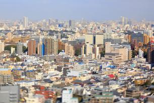東京都心のジオラマ風景の写真素材 [FYI04908965]