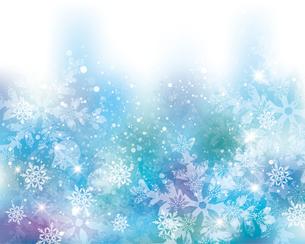 雪の結晶の背景のイラスト素材 [FYI04909757]