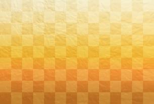 金色の市松模様【はがきテンプレート】のイラスト素材 [FYI04909948]