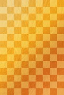金色の市松模様【はがきテンプレート】のイラスト素材 [FYI04909950]