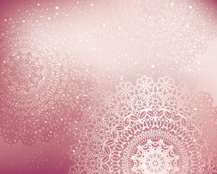 レース模様のピンク背景のイラスト素材 [FYI04910339]