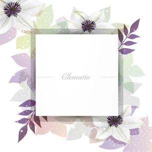クレマチスの花のイラスト背景のイラスト素材 [FYI04910388]