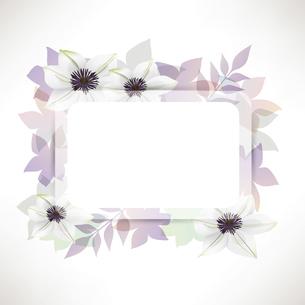 クレマチスの花のイラスト背景のイラスト素材 [FYI04910423]