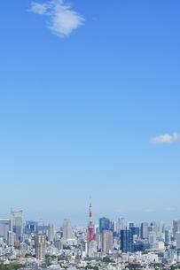 東京都心と東京タワーの写真素材 [FYI04910785]