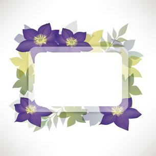クレマチスの花のイラスト背景のイラスト素材 [FYI04910865]