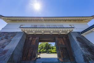 小田原城二の丸の正門 銅門の写真素材 [FYI04911003]