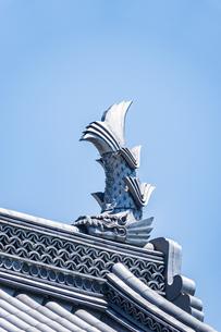 小田原城二の丸の正門 銅門の鯱の写真素材 [FYI04911011]
