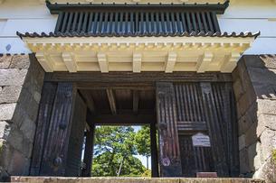小田原城本丸の正門 常盤木門の写真素材 [FYI04911030]