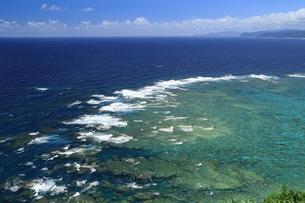 明神崎展望台から珊瑚礁を望む 奄美大島の写真素材 [FYI04911338]