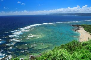 明神崎展望台から珊瑚礁を望む 奄美大島の写真素材 [FYI04911437]