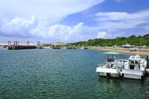 大原港と漁船の写真素材 [FYI04912011]