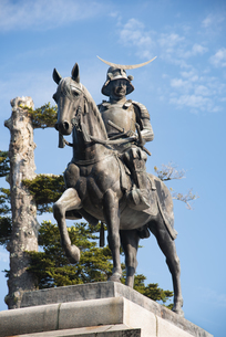 伊達政宗騎馬像の写真素材 [FYI04912290]