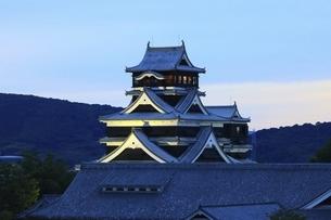 熊本城のライトアップの写真素材 [FYI04912837]