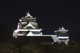 ライトアップの熊本城の写真素材 [FYI04912851]