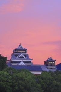 朝焼けの熊本城の写真素材 [FYI04912854]