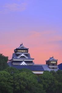 朝焼けの熊本城の写真素材 [FYI04912855]