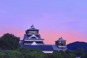 朝焼けの熊本城の写真素材 [FYI04912856]