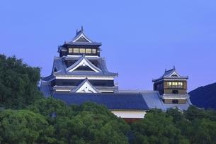 早朝の熊本城の写真素材 [FYI04912857]