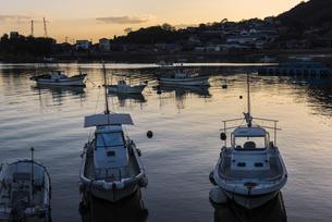 鞆港の夕景の写真素材 [FYI04913310]