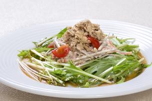 ツナと水菜のサラダの写真素材 [FYI04913395]