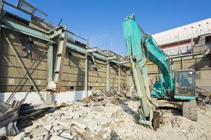 建物の解体現場の写真素材 [FYI04913407]