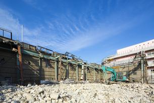 建物の解体現場の写真素材 [FYI04913408]