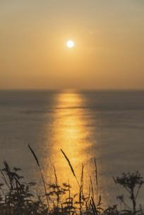 礼文島からの夕日 ~秋の気配~の写真素材 [FYI04913442]