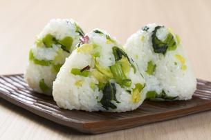 野沢菜おむすびの写真素材 [FYI04913714]