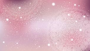 レース模様のピンク背景のイラスト素材 [FYI04914071]