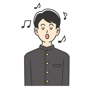 歌を歌う男子高校生のイラスト素材 [FYI04914189]