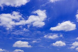 梅雨の青空と浮雲の写真素材 [FYI04914356]
