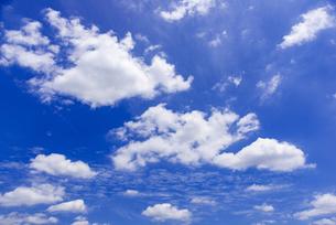 梅雨の青空と浮雲の写真素材 [FYI04914358]