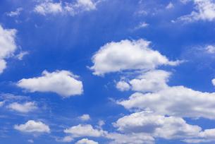 梅雨の青空と浮雲の写真素材 [FYI04914361]