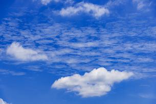 梅雨の青空と浮雲の写真素材 [FYI04914566]