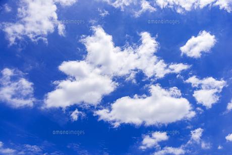 梅雨の青空と浮雲の写真素材 [FYI04914646]