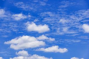 梅雨の青空と浮雲の写真素材 [FYI04914734]