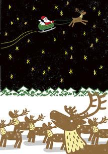 トナカイはクリスマスの夢を見るのイラスト素材 [FYI04914807]
