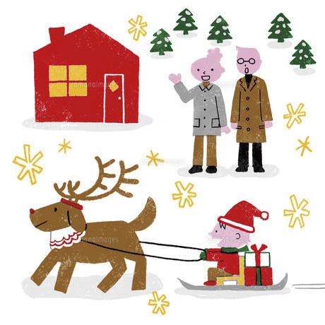 パパとママにクリスマスプレゼントのイラスト素材 [FYI04914808]