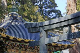 日光 東照宮 唐銅鳥居の写真素材 [FYI04915125]