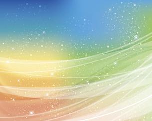 輝きとぼかしのカラーグラデーション背景のイラスト素材 [FYI04915259]