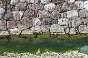 駿府城跡の堀と石垣の写真素材 [FYI04915720]