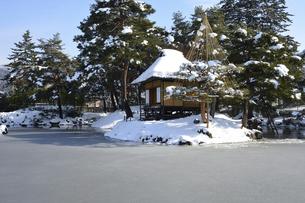 会津 冬の御薬園の写真素材 [FYI04915993]