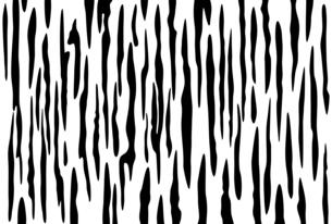 白黒の虎柄模様のイラストのイラスト素材 [FYI04916273]