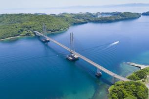 上空から見る伊唐大橋の写真素材 [FYI04916326]